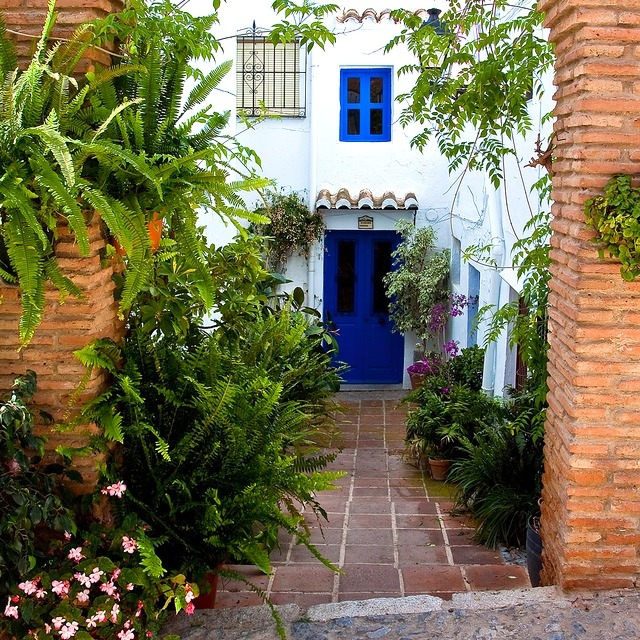 | ♕ |  Blue Door - Frigiliana, Andalusia  | by © James