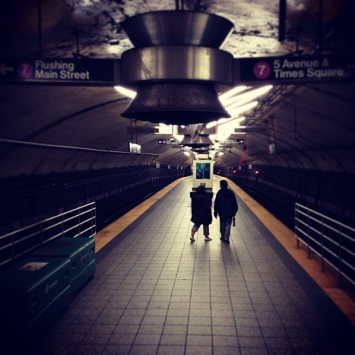 Quiet Sunday mornings (at MTA Subway - 42nd St/Grand Central (4/5/6/7/S))