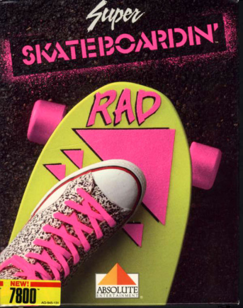 raduniverse:  Super Skateboardin' for the Atari 7800's super rad cover art.