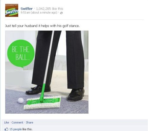 Really, Swiffer? I guess I have been doing this wrong the WHOLE time.