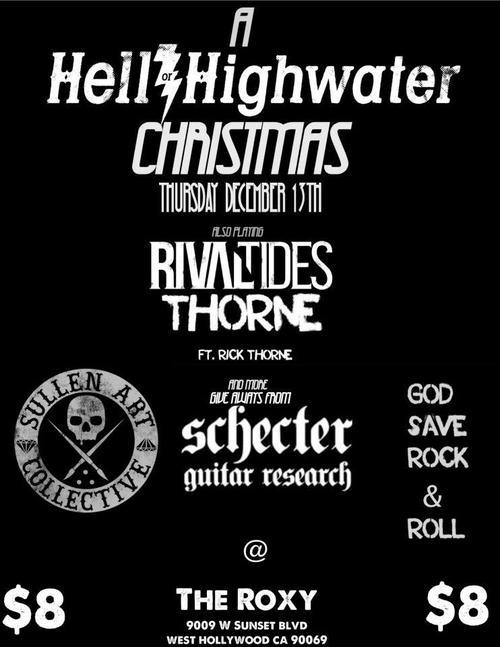 dudecommunications:  This Thursday, join my band Rival Tides for a Christmas celebration at the Roxy in Hollywood. Tickets are only $8!