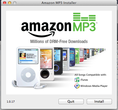 markprivett:  The current Amazon MP3 Downloader install screen is living in the past. Is that 2nd gen iPod? And what are those things behind it?
