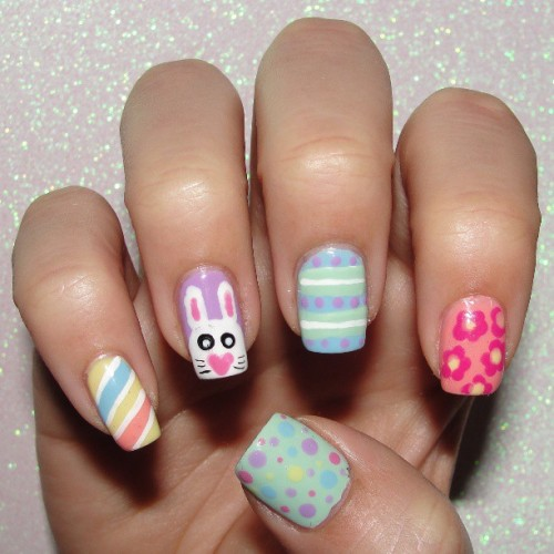 My Easter Nail for #NailArtMar #Floral and #Pastels #notd #nailoftheday #nailsoftheday #floralnails #easternails #eastereggnails #easterbunnynails #bunnynails #bunny #pastelnails #michellemealey #cnlc #clnc #missjenfabulous #sinfulcolors #sugarrushcollection #juliegnailpolish #juliegbeauty #lacquerlovers #nailartwow #nails2inspire
