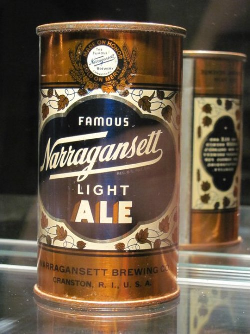 Narragansett Light Ale can from the 1940's.