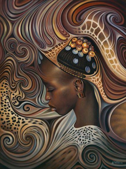 African Spirit by Ricardo Chavez Mendez .  My links, click to see more (follow me):ART / Black women .