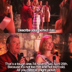 Happy April 25th. Break out those light jackets!