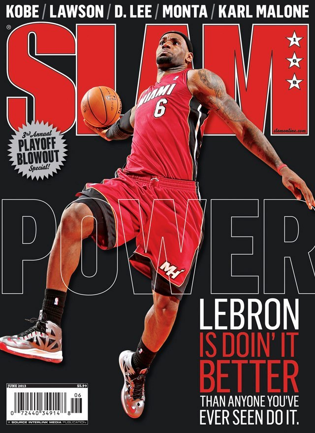Photo: LeBron on the latest cover of SLAM.