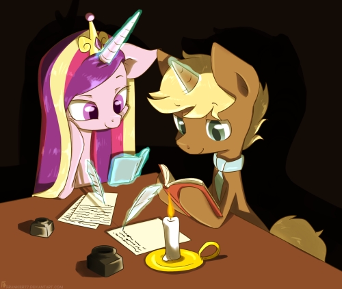 Studying Together (dA link) Requested by Heartsie