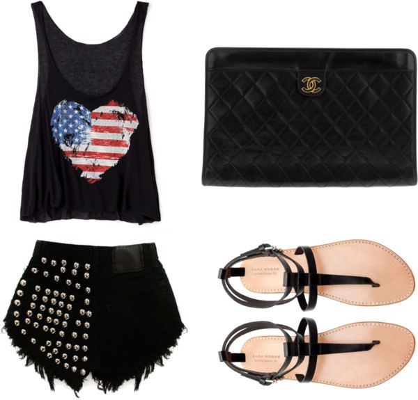 Black and Genius by ammyamel featuring forever 21 tank topsForever 21  tank top / Zara lining shoes / Chanel , $2,985