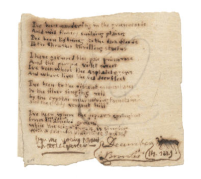 theamericanscholar:  In two days, this poem by Charlotte Brontë will go up for auction. It's expected to go for between $61,000 and $68,000. Read writer Miranda K. Pennington's daydream of being able to afford it here.