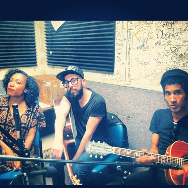 Latergram : Thanks for having us on your radio show UCLA and @savanniebananie ❤❤❤!! Help keep this show going by pledging to UCLAradio.com/pledgedrive! The station is run by some pretty rad students and is without funding ! Every dollar helps !! #pyyramids #supportuclaradio #pledgedrive #acousticsesh