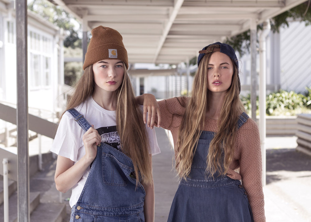Denim dungarees. Photo: James K Lowe.
