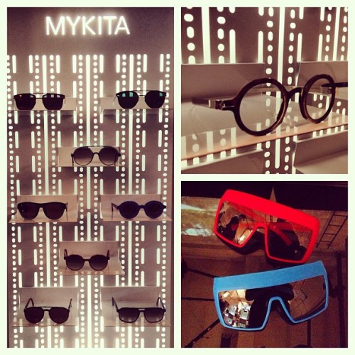 Sneak peek of the soon-to-be-opened #MYKITA store in #SoHo with #eyewear from the #DamirDoma & #Moncler #collaborations. (at Mykita)