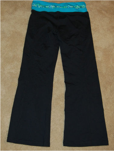 Kirkland Signature Reversible Yoga Pants - $19.99 I love Lululemon yoga pants, but they are also crazy expensive. So I was pretty excited to see that Costco sells a very similar pair of yoga pants (they even contain the same key pocket in the waistband) for only $20. They had a number of different colors/patterns available for the waistband, and they are all also reversible to solid black.  The pants are available in S-XL, and in Short, Regular and Tall. I bought the tall and they are a perfect length!