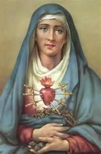 THE SEVEN SORROWS OF THE BLESSED MOTHER 1. The Prophecy of Simeon. 2. The Flight into Egypt. 3. The Loss of the Child Jesus 4. The Meeting of Jesus and Mary on the Way of the Cross. 5. The Crucifixion 6. Jesus' body Struck by a Lance, Taken Down from the Cross 7. The Burial of Jesus. LET US NOT FORGET THAT OUR MOST BEAUTIFUL MOTHER CONTINUES TO SHED TEARS NOT ONLY FOR THE INJUSTICE DONE TO HER SON TO THIS PRESENT DAY BUT ALSO DUE TO THE CHASTISEMENT SHE SEES COMING ON A LAWLESS AND SINFUL WORLD! AMEN!