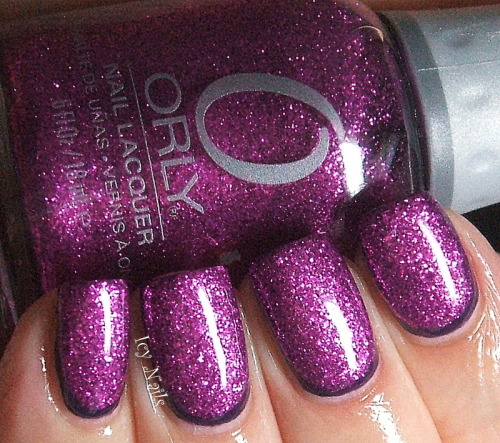 Ruffian created with Orly Wild Wisteria and Orly Bubbly Bombshell.