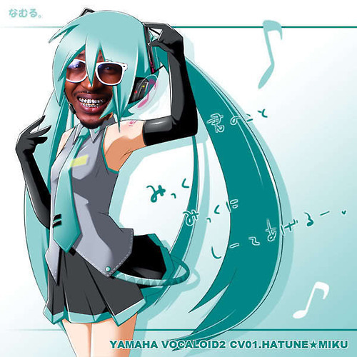 A friend of mine ask is T. Pain a Vocaloid? After finding this startling evidence I feel that answer is yes.