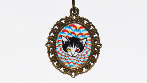 Psychedelic Cat Necklacehttps://www.etsy.com/listing/123953663/psychedelic-cat-necklace