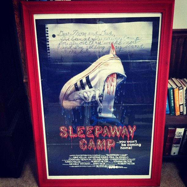 slaughterhi:  Best present ever! ANGELAAAAAA! #sleepawaycamp #horror #horrorposters  want!
