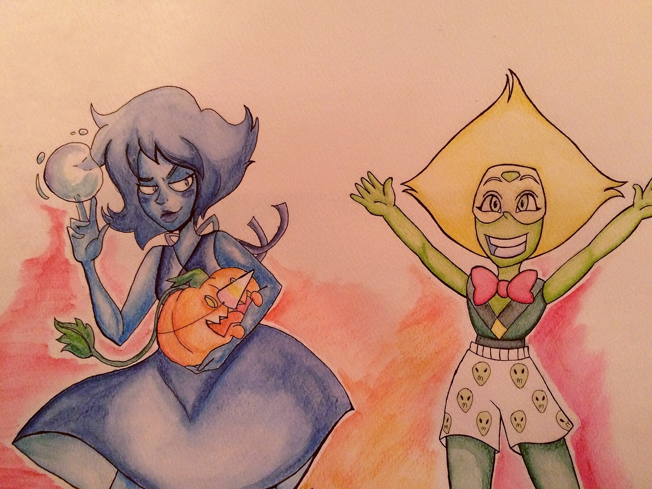 I did a collab with my friend she drew peri and I drew lapis :D
