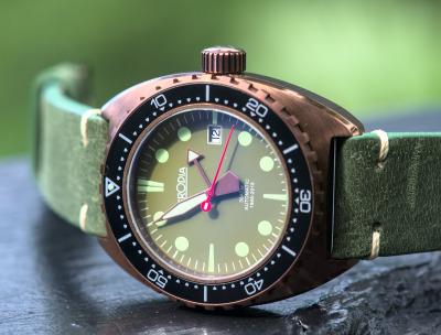 The Herodia Series 1 Bronzed - Swiss Made Dive Watch.