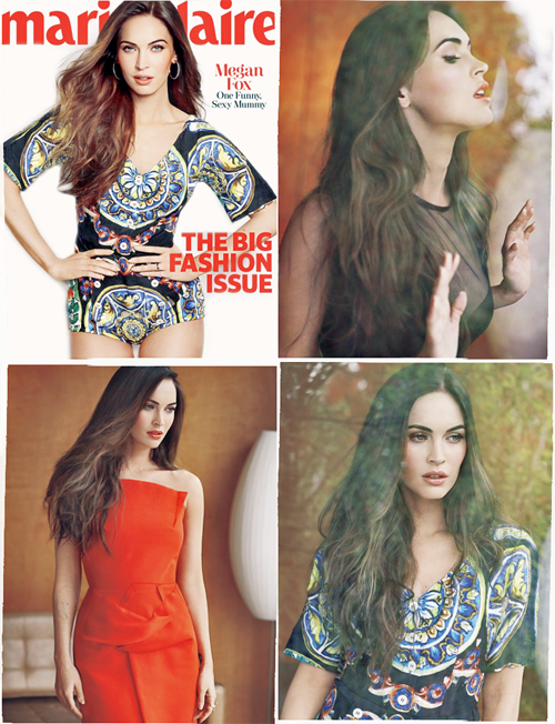 Behold! Megan Fox is featured in the new spread for the March issue of Marie Clair magazine. Absolutely stunning!