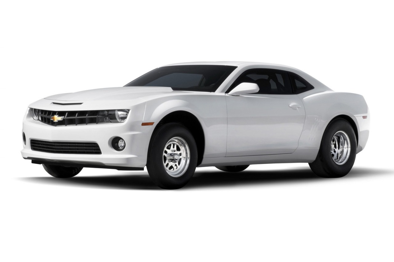 Chevrolet Sells You a Camaro Body and Chassis, Lets You Put the Engine In for Drag Racing Chevrolet will produce a limited number of NHRA-certified Camaro rolling chassis designed for drag racing. The package will include a painted body and chassis ready to be fitted with an engine, transmission and other drivetrain components.  All cars produced are painted Summit White and feature a production Camaro hood and SS grille, production window glass, headlamps, tail lamps and more. On the inside, the Camaro gets racing seats, production-style instrument panel, steering wheel, racing switch panel, door panels, headliner and black carpeting. There's also basic body and wiring built into the rolling chassis, but engine harnesses and a battery are not included. Buyers can add their own powertrain components, many of which, including crate engines, racing engine parts, electronics and more, are available from Chevrolet Performance. Each serialized chassis is assembled by hand at the same facility that makes Chevrolet's COPO Camaro production racecars. The price for a Camaro rolling chassis is $55,000 (€42,520). (story from Carscoops)