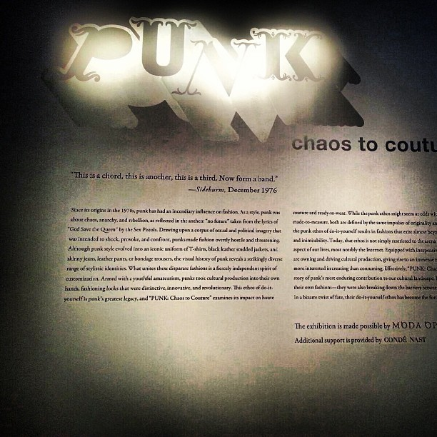 * behind the scenes of the #punk exhibition at the #met #gala *