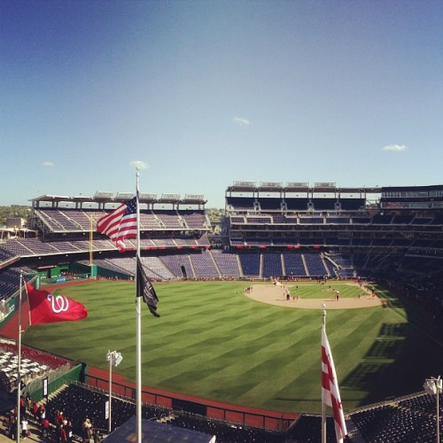 Nats Park on a great Sunday afternoon