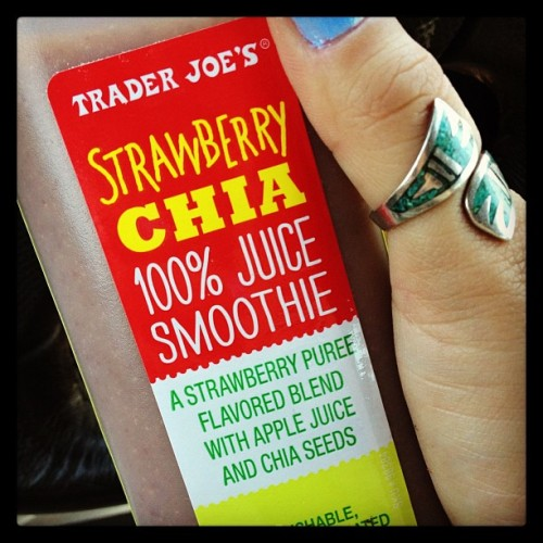 Getting to work early means getting my favorite juice from Trader Joe's. #awesomeday #chia