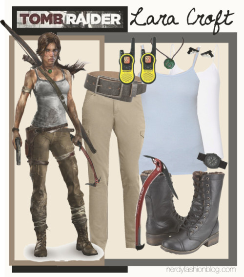 Lara Croft | Tomb Raider : Reborn by chelsealauren10 {Budget Friendly!}  Mango top / Eddie Bauer / Dollhouse zipper boots / Sprout Watches / Fake earrings / Daytrip leather belt