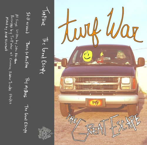 Turf War are happy to announce that Secret People Records are releasing our new EP The Great Escape on limited edition cassette and you can pre-order it now on for $5.00.