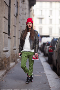 Love this outfit ! Via Stockholm Streetstyle