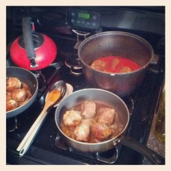 award winning veal meatballs in progress ;D #homemade #cooking #dinner