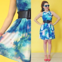 modcloth:  The cosmic print Celestial Get Together Dress is perfectly complimented by the Just Prance Heel in Punch, wouldn't you agree? Find both on our New Arrivals page and make sure to 'like' us on Facebook to be the first to catch exclusive sneak peeks of pieces before they hit the site! :) <3 Jess, ModStylist Need styling suggestions, trend tips, or dress details? Ask a ModStylist and your question might be featured on our feed!