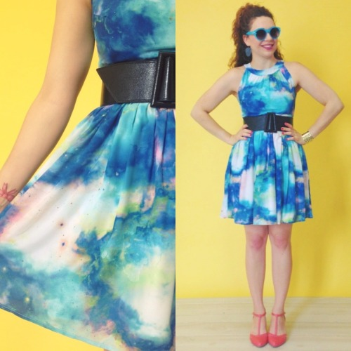 The cosmic print Celestial Get Together Dress is perfectly complimented by the Just Prance Heel in Punch, wouldn't you agree? Find both on our New Arrivals page and make sure to 'like' us on Facebook to be the first to catch exclusive sneak peeks of pieces before they hit the site! :) <3 Jess, ModStylist Need styling suggestions, trend tips, or dress details? Ask a ModStylist and your question might be featured on our feed!