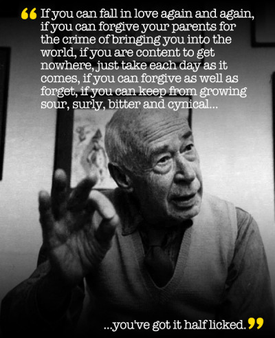 explore-blog:  Henry Miller on growing old, the perils of success, and how to be young at heart