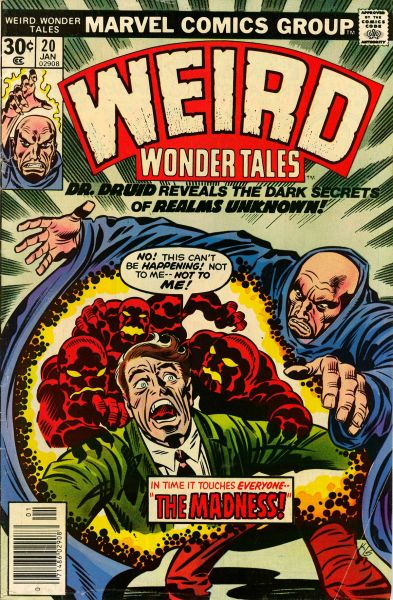 comicbookcovers:  Weird Wonder Tales #20, January 1977, cover by Jack Kirby abd Joe Sinnott