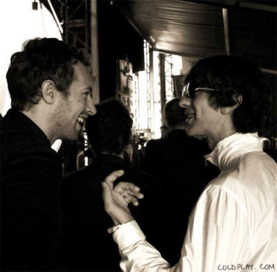 fuckyeahrockmusicandmovies:  Chris Martin and Richard Ashcroft.
