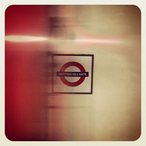 Underground. (at Notting Hill Gate London Underground Station)