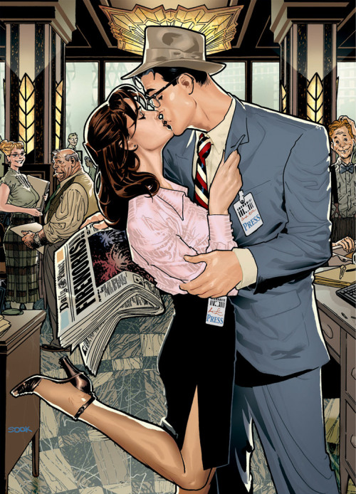 thezannynation:  Lois and Clark (beautiful artwork)