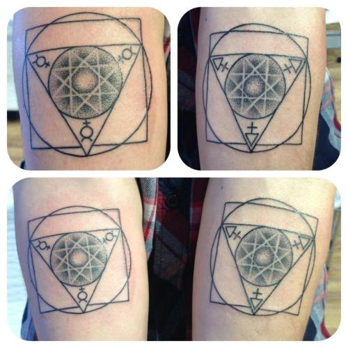 Alchemy symbols, love this type of tattoo. Jessi James 2013.