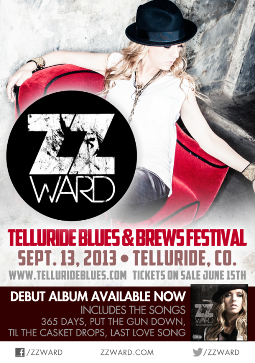 Playing the Telluride Blues Festival in Colorado in September!
