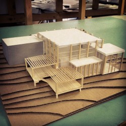 Yay I finished my architecture final! It's a visitors center 😁