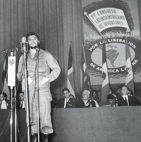 fuckyeahmarxismleninism:  Comandante Che Guevara at the 1st Congress of Latin American Youth in Havana, Cuba, July 26, 1960.