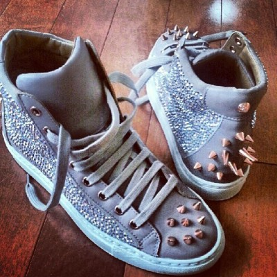 "Gorgeous #Fridays in #NYC call for @Ruthie_Davis @Swarovski ""Pierce"" High Tops! XO"