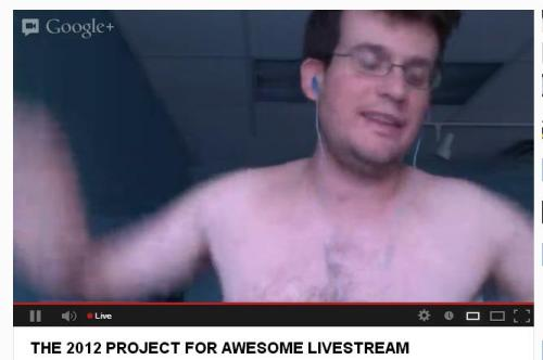 Shirtless John Green, everybody!