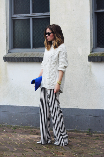 what-do-i-wear:  Zara trousers and sweater, H&M shoes, Clare Vivier bag, Michael Kors watch and Ray-Ban sunglasses (image: fash-n-chips)