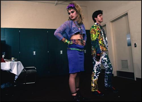 Until new photos from GLAAD come in, #Madonna Backstage of The Virgin Tour 1985