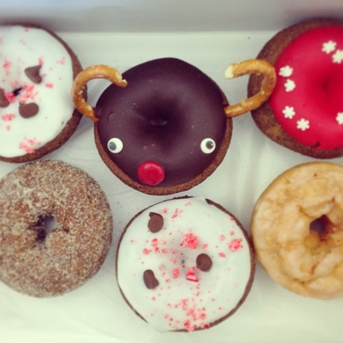 They're too darn cute to eat!!! Darn it Dixie doughnuts! Thanks #interface! #rva